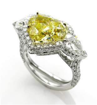 GIA Canary 616ctw Natural Fancy YELLOW HEART Pear