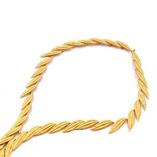 18k Yellow Gold Ornate Necklace