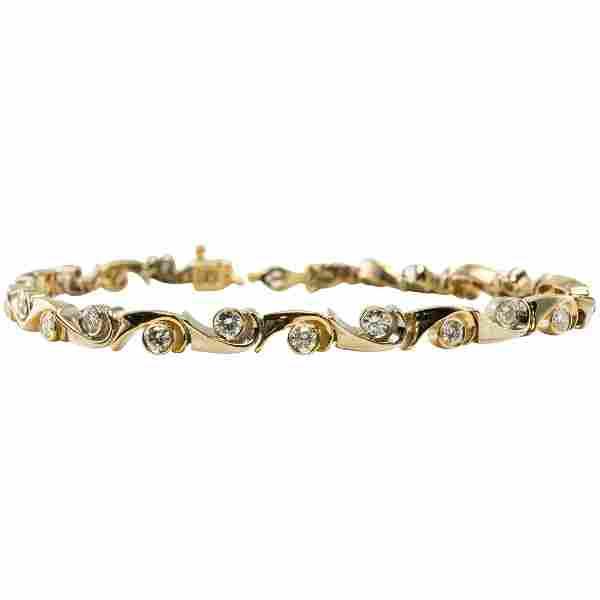 Diamond Bracelet Links 14K Yellow Gold 192cttw