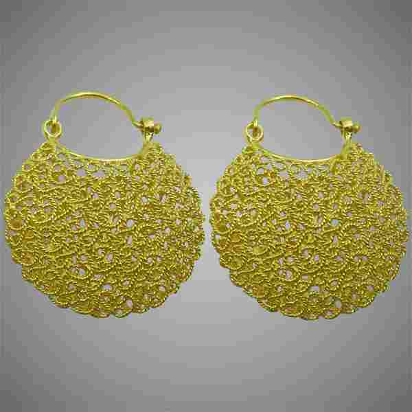 Traditional Orrisa Style 18 karat Gold Filigree