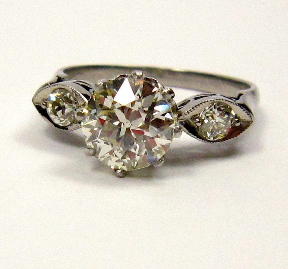 1.39ct Old European Cut Diamond Circa 1920 Art Deco