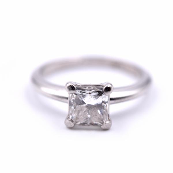 1.00ct Princess Cut Platinum Diamond Engagement Ring