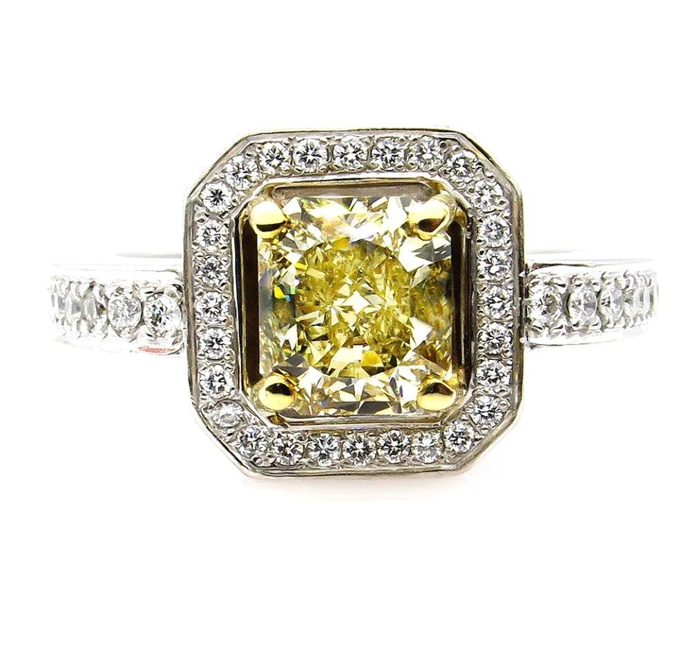 Fine GIA 2.0ctw Estate Vintage Natural Fancy Yellow
