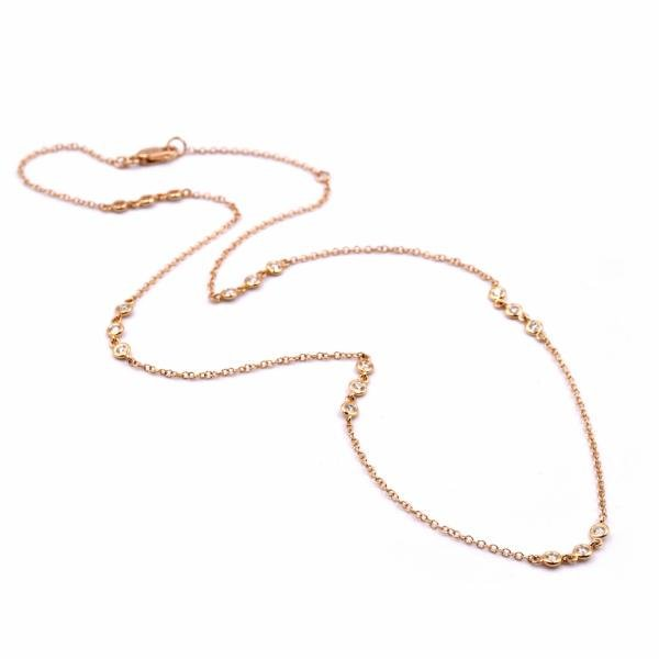 18k Yellow Gold Diamonds by The Yard Necklace
