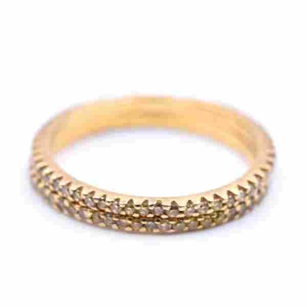 0.60 Carats Yellow Diamond 18k Yellow Gold Eternity