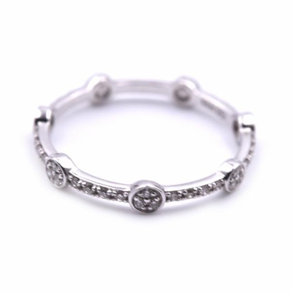 14k White Gold Stackable Eternity Band