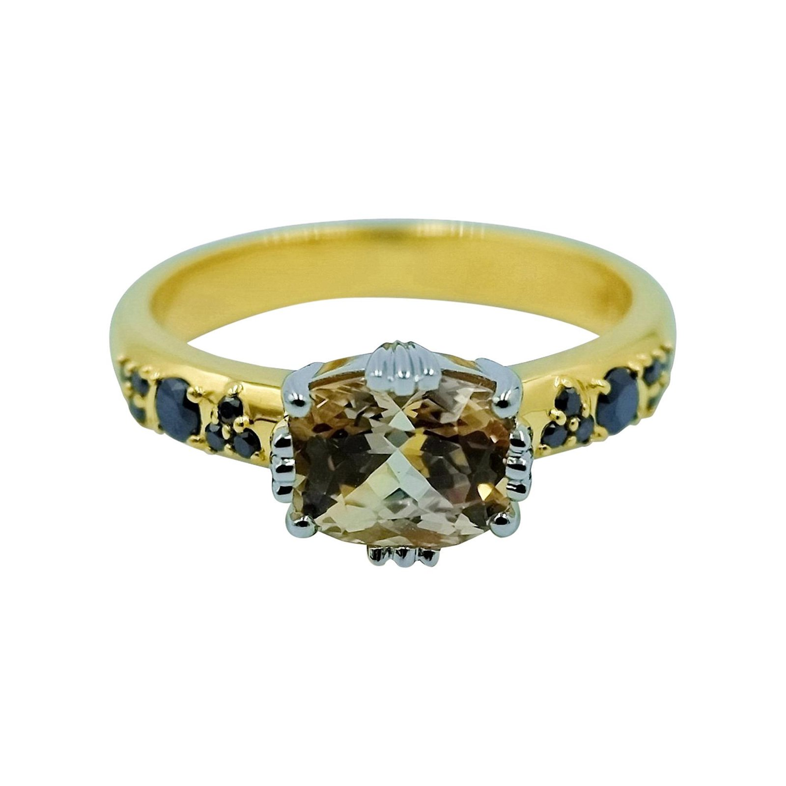 Luca Jouel Yellow Sapphire and Black Diamond Platinum