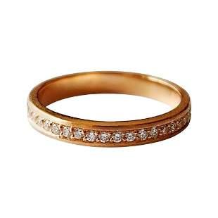 Luca Jouel Full Circle Diamond Ring in 18 Carat Rose