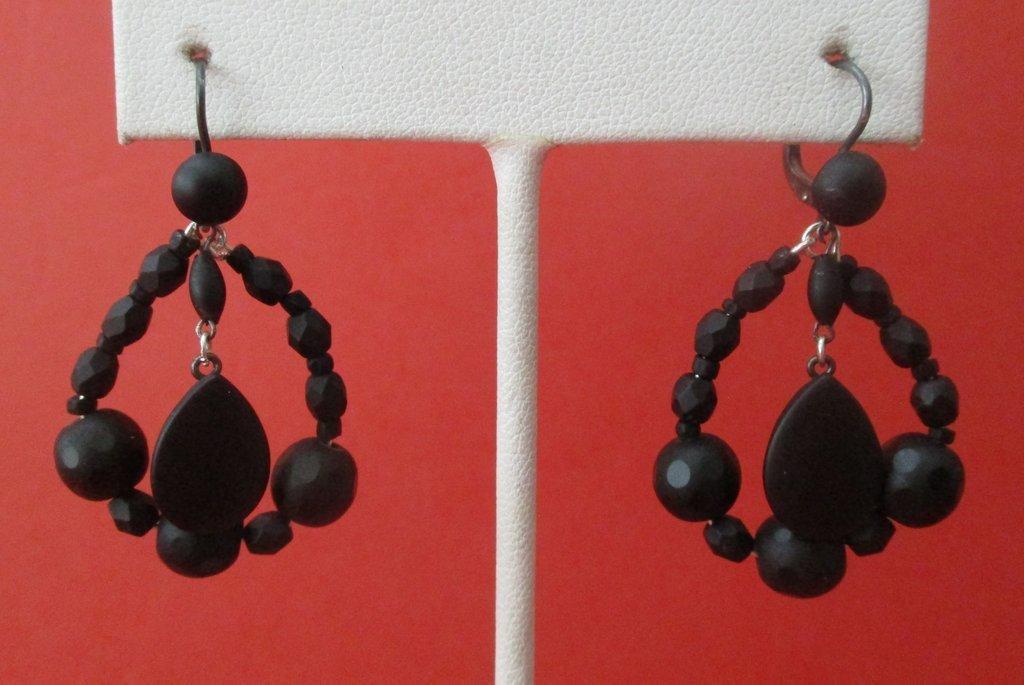Pair of Antique Pate de Verre Earrings