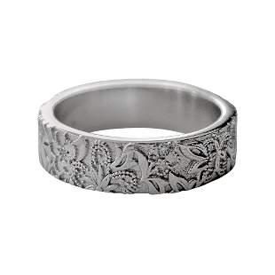 Luca Jouel Diamond Platinum Floral Band Ring