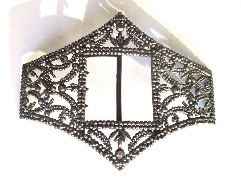 Edwardian Cut Steel Belt Buckle