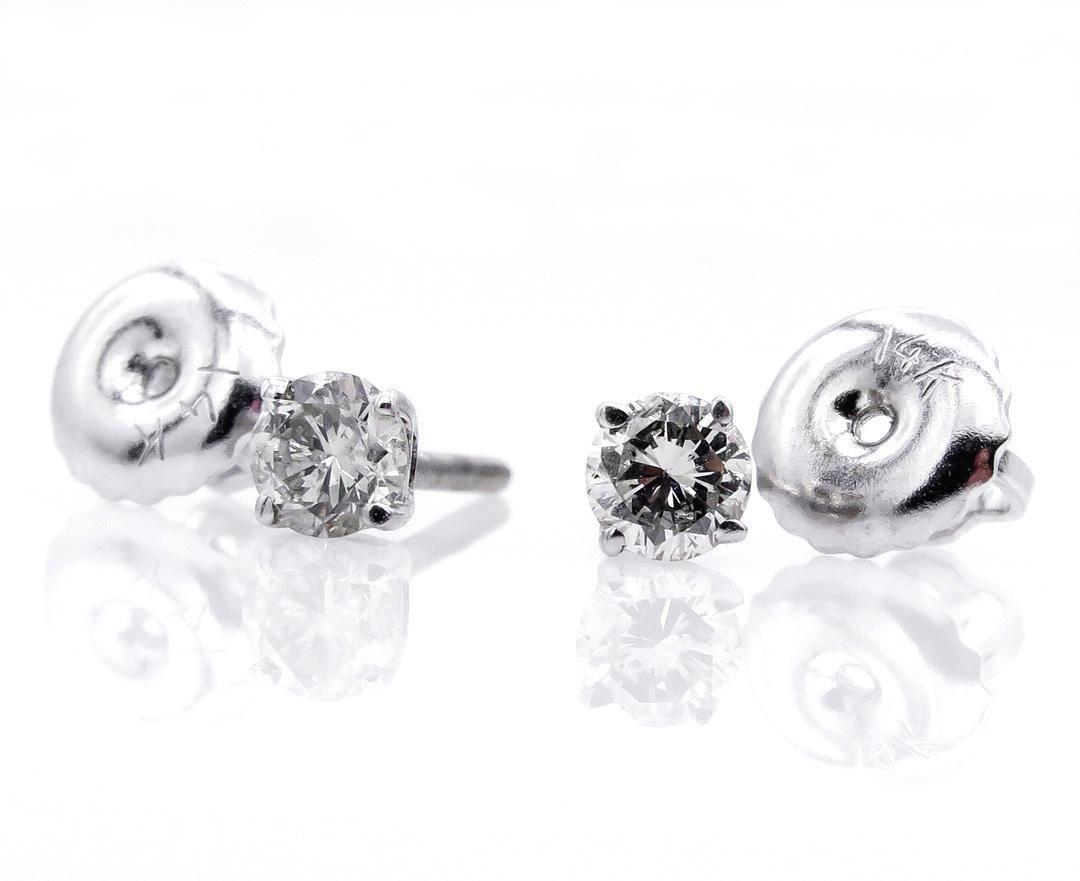 Classic 021ct Round Diamond StudEarrings 4 prongs 14k