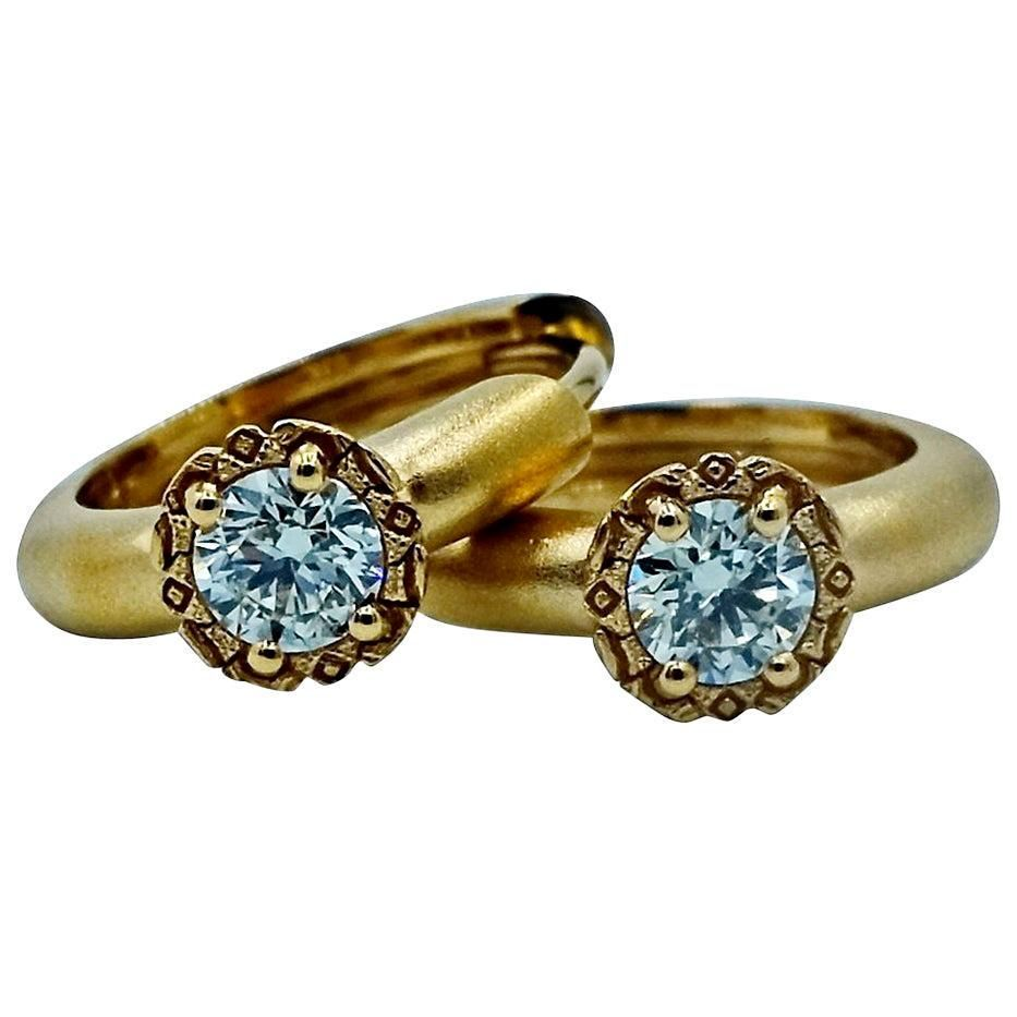 Luca Jouel Diamond Deco Style Huggie Hoop Earrings in