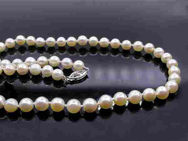 Classic Estate Vintage Cultured Japanese PEARL 6.5mm