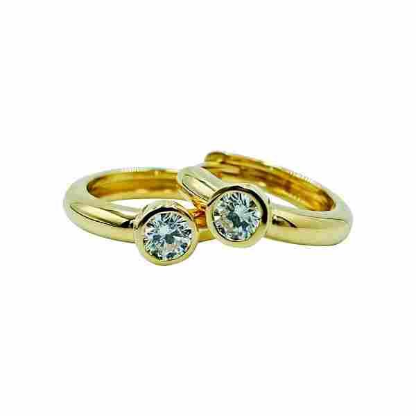 Luca Jouel White Diamond Petite Hoop Earrings in 18