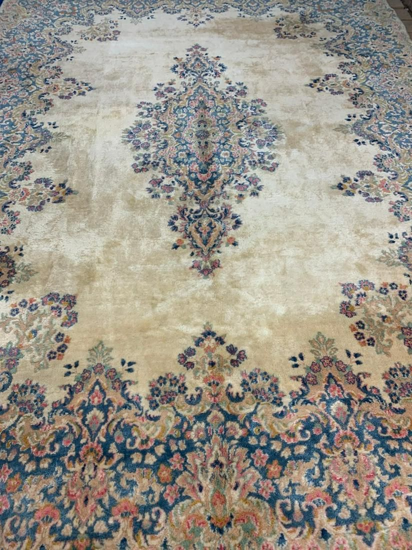 Semi Antique Hand Woven Persian Kermen 12x8.7