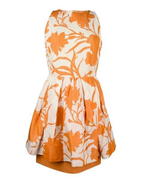 Christian Dior Dress Pencil Dress w/ Pleated Overlay