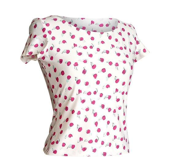 Chanel 99S Top Small Abstract Pink Roses SO Charming 40