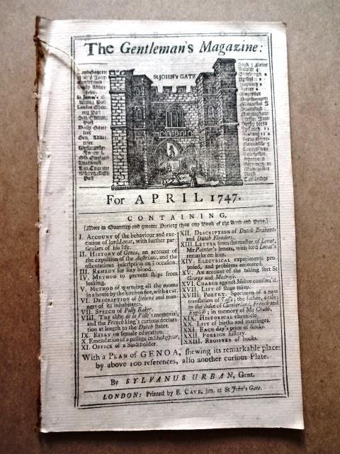 1747 Gentleman's Magazine Genoa Iceland