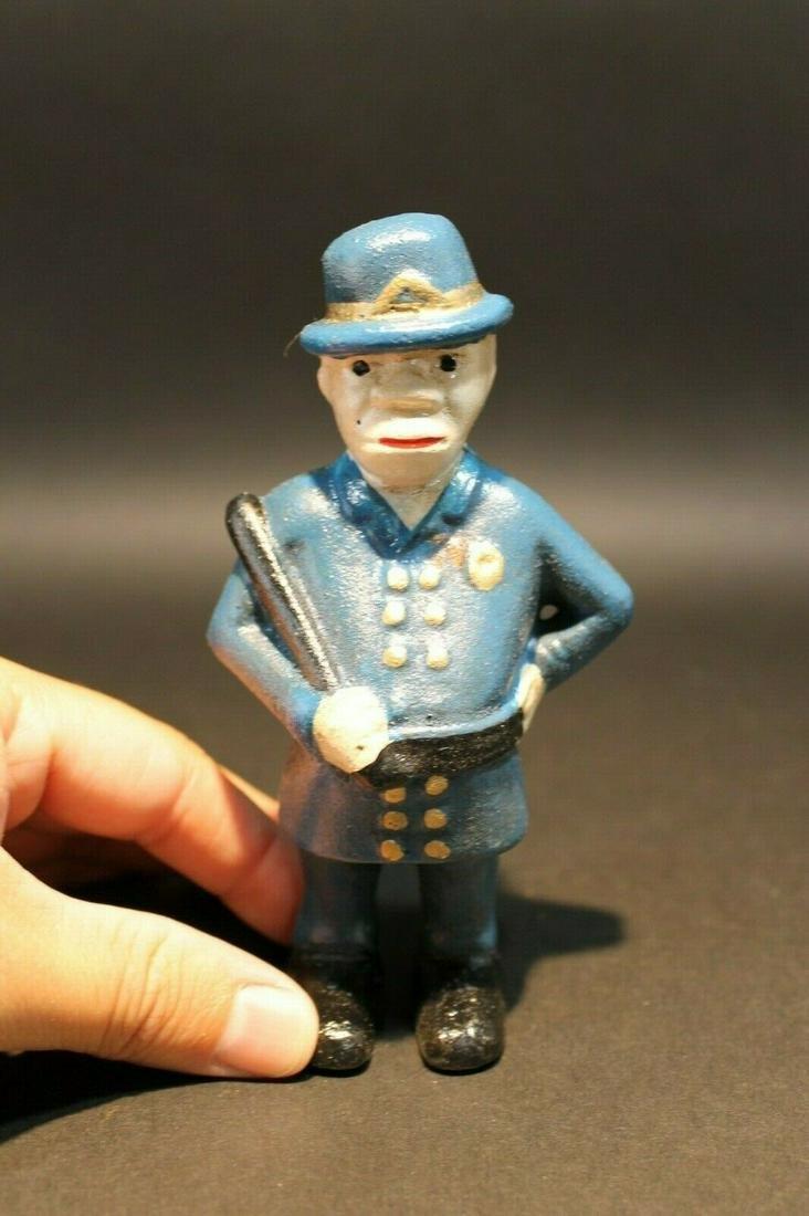 Cast Iron Coin Bank Policeman