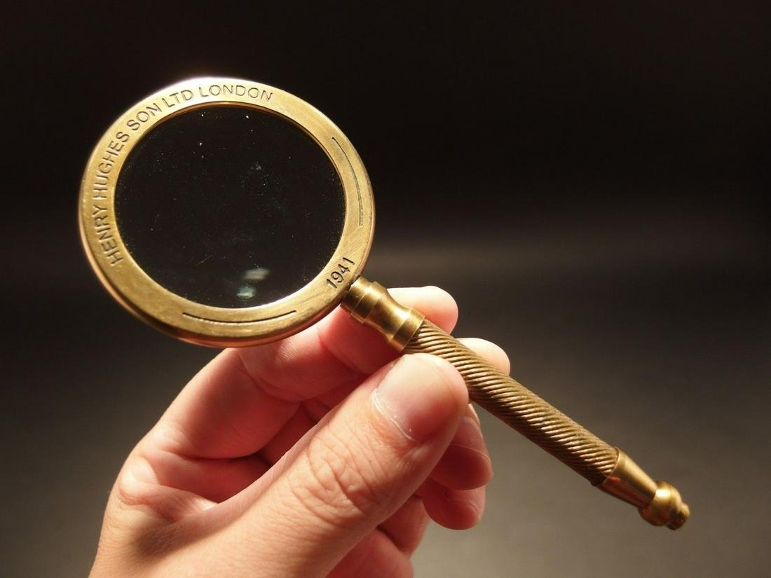 "Brass Magnifying Glass ""London 1941"""