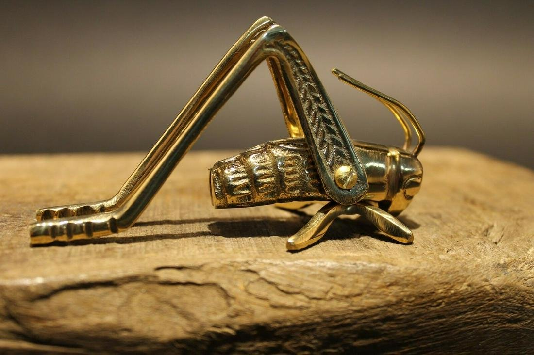 Solid Brass Fireplace Hearth Cricket