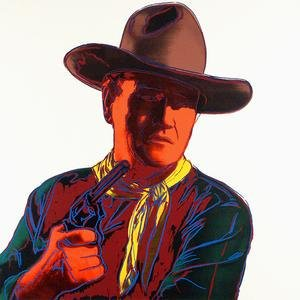John Wayne, from Cowboys and Indians, 1986 by ANDY