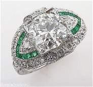 GIA 3.10ct Estate Vintage Old European Diamond Green