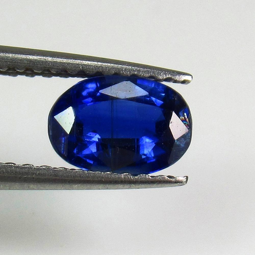 1.10 Ctw Natural Deep Blue Kyanite Oval Cut