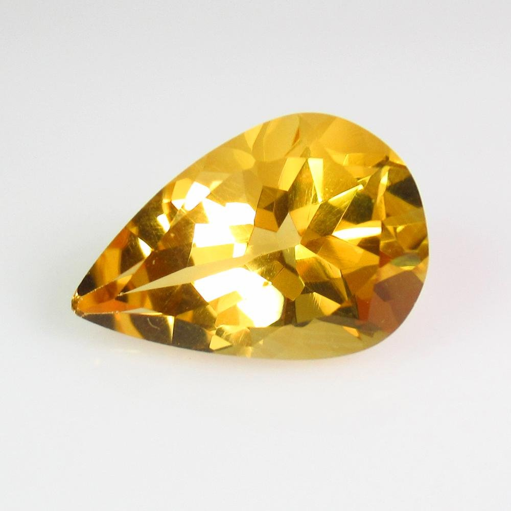 6.79 Ct Genuine Yellow Citrine Pear Cut