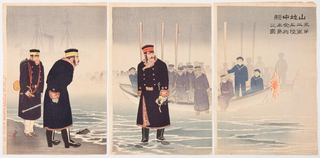 Kiyochika Kobayashi (1847-1915): Vice Admiral Yamaji