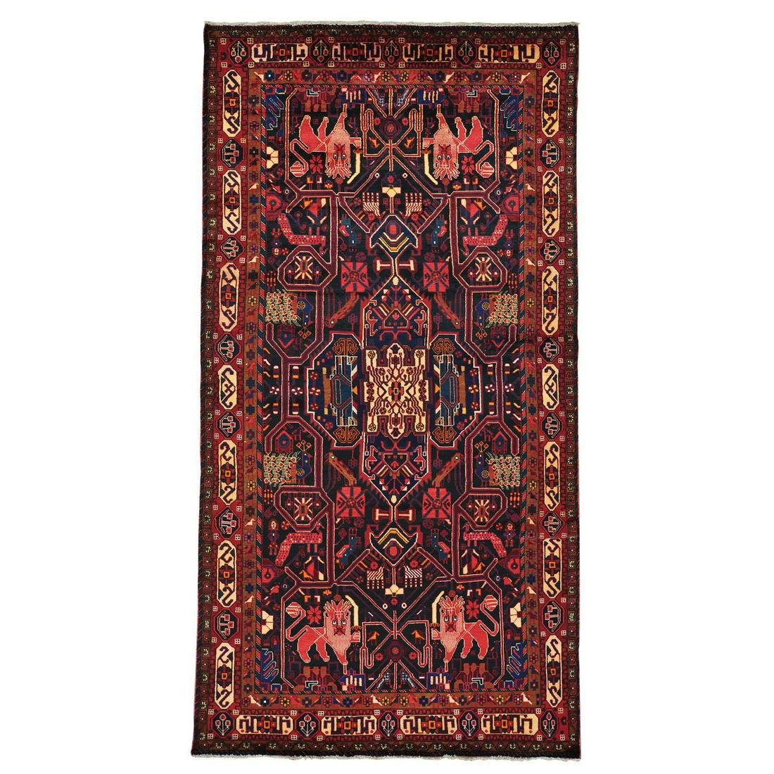 Full Pile Wide Gallery Hand Knotted Persian Nahavand