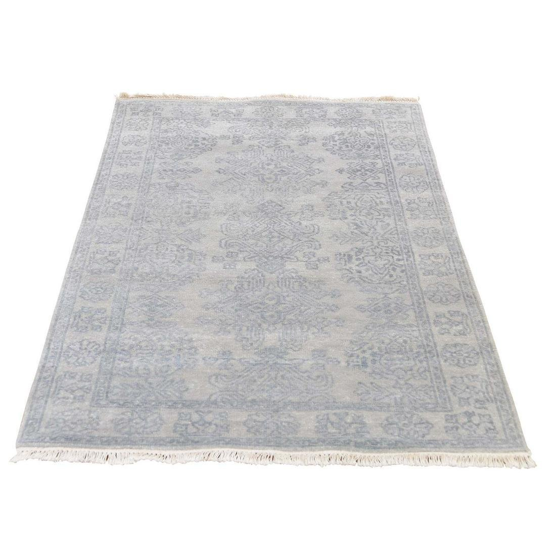Turkish Knot Oushak Design Hand-Knotted Pure Wool