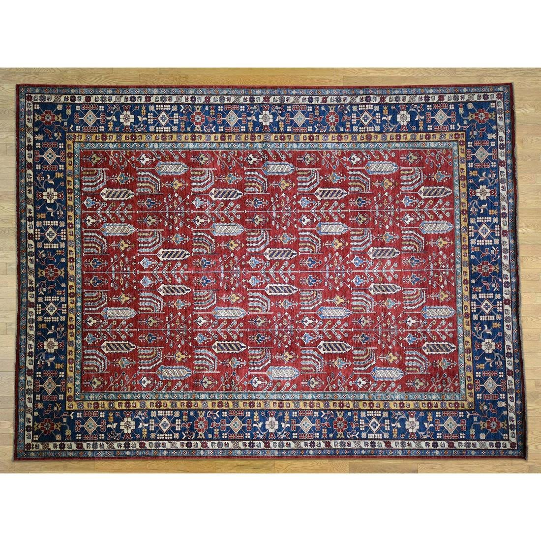 Super Kazak With Willow Tree Design Pure Wool