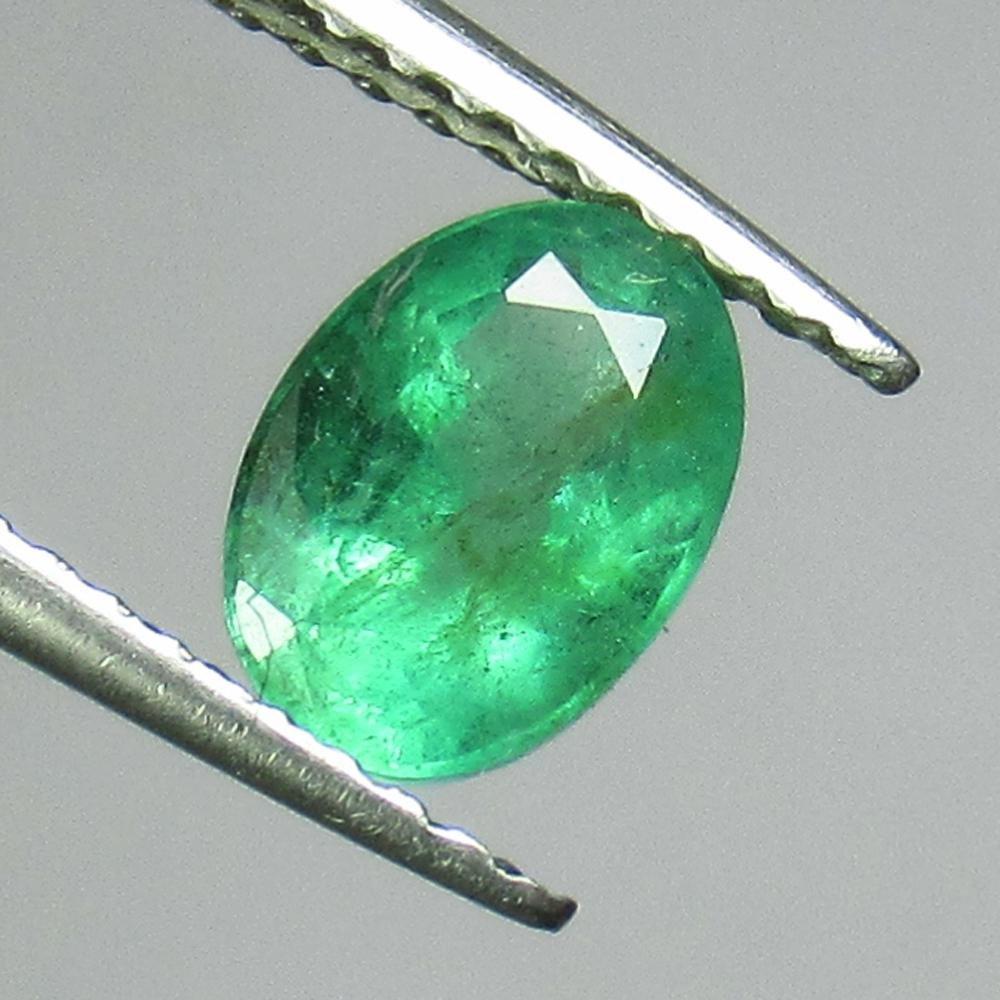 0.83 Ct Genuine Zambian Emerald Oval Cut
