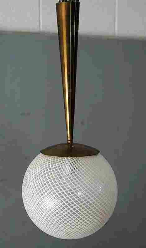 Small White Murano Globe