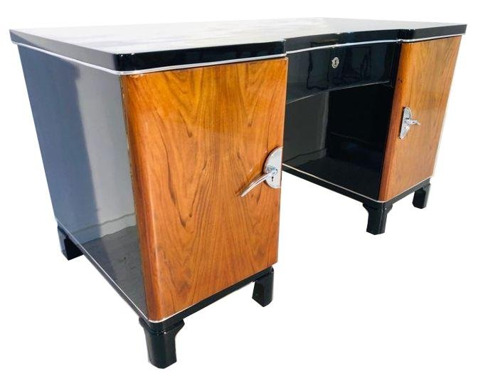 Art Deco Two Color Desk from France 1930s