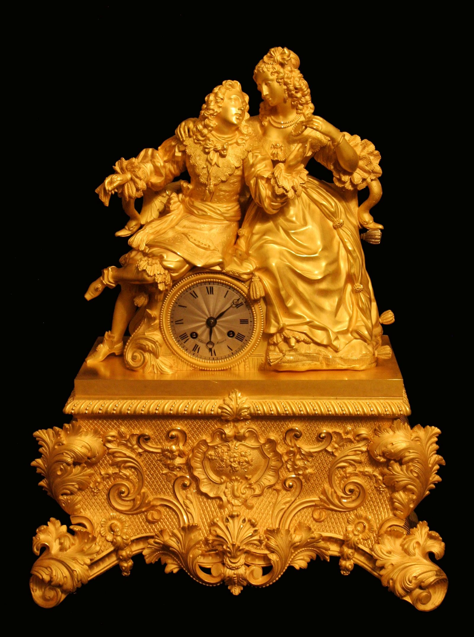 CHAVANON A RENNES - ANTIQUE FRENCH GOLD PLATED BRONZE