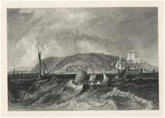 J M W Turner Mount Edgcumbe engraving