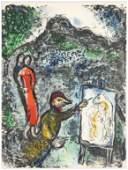 """Marc Chagall original lithograph """"Devant Saint-Jeannet"""""""