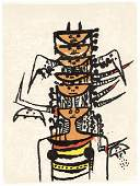 Wifredo Lam original lithograph 1979