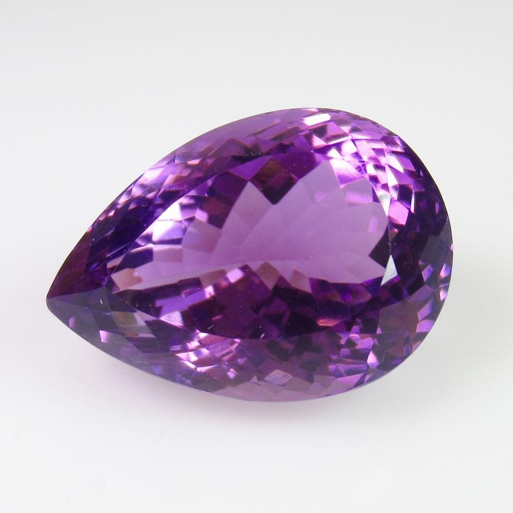 19.12 Ct Natural Purple Amethyst Pear Cut