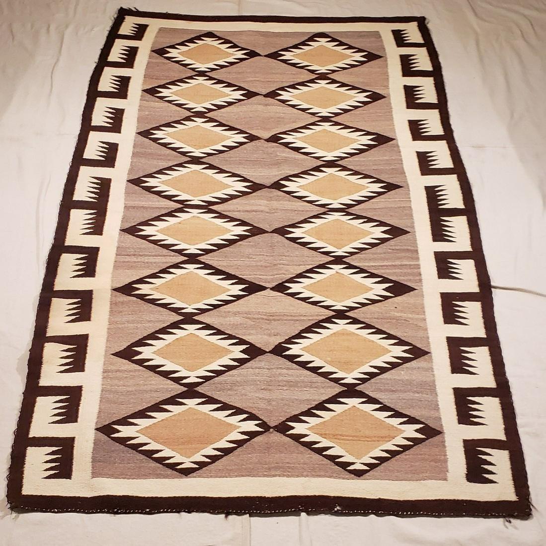 Large Navajo Woven Rug Ca 1940's