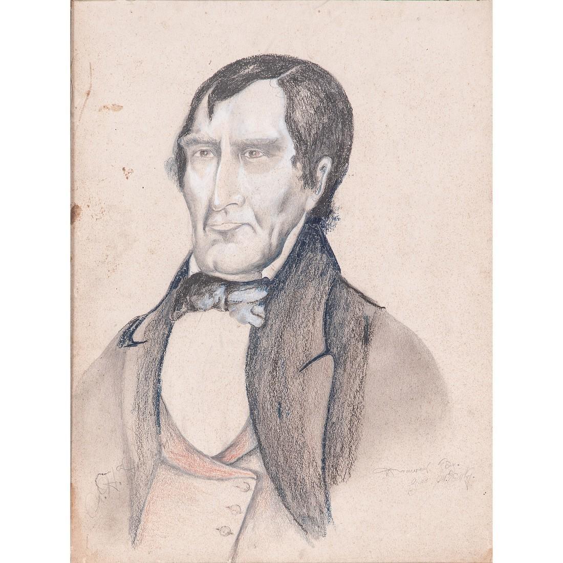Circa 1840 Campaign William Henry Harrison Folk Art