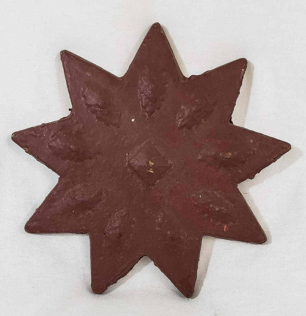 Painted Architectural Iron Star Ca 19th Century