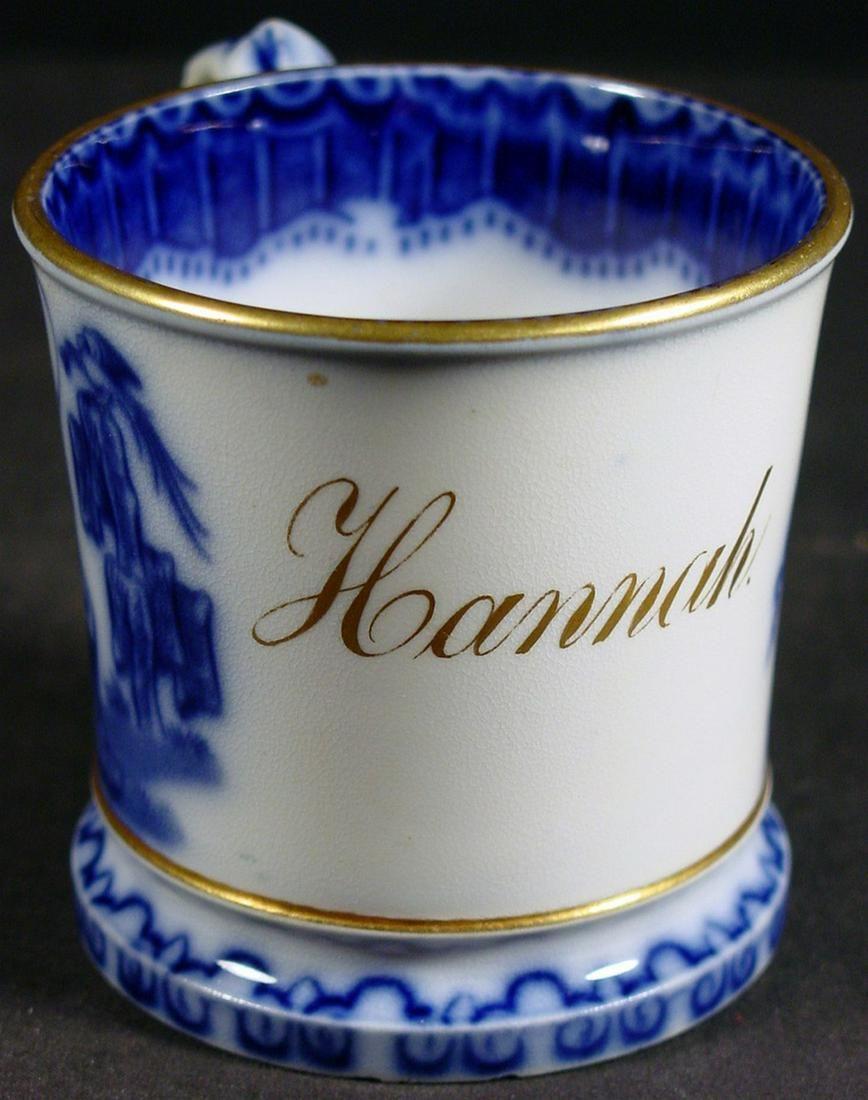 Hannah - Flow Blue Christening Mug