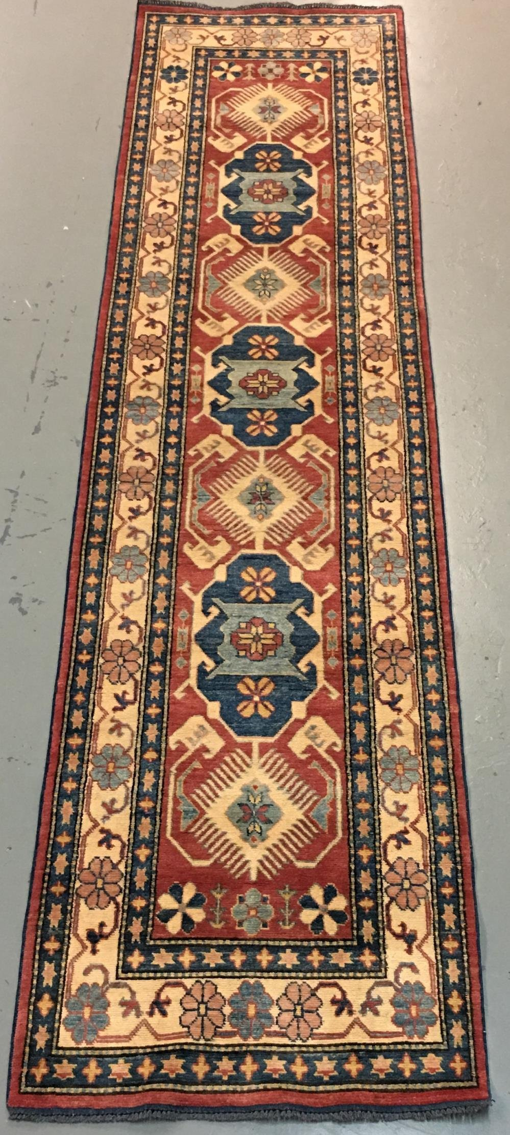 Handmade Pakistani Kazak Design 2.10x11.4