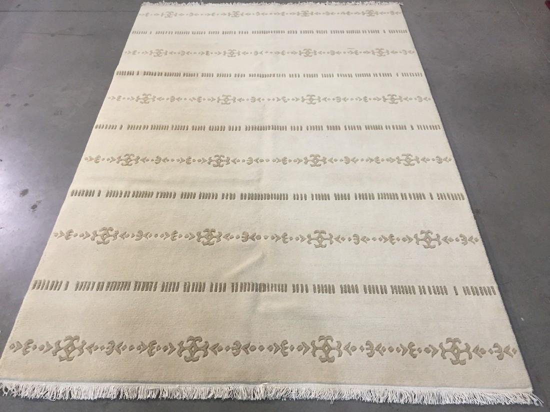 MAGNIFICENT MODERN HAND KNOTTED WOOL RUG 5.7x8.2