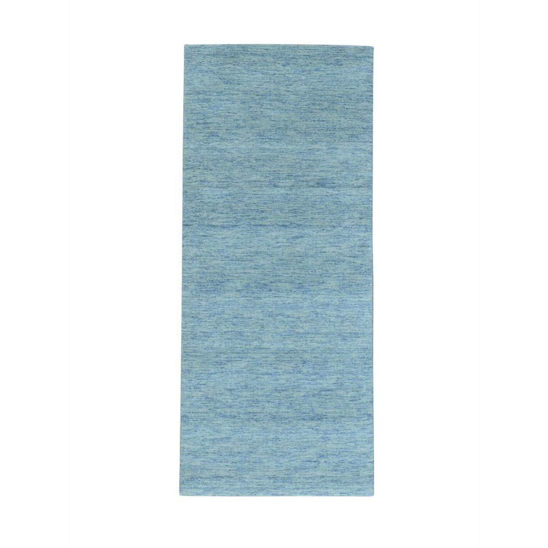 Pure Wool Runner Modern Hand Loomed Gabbeh Oriental Rug
