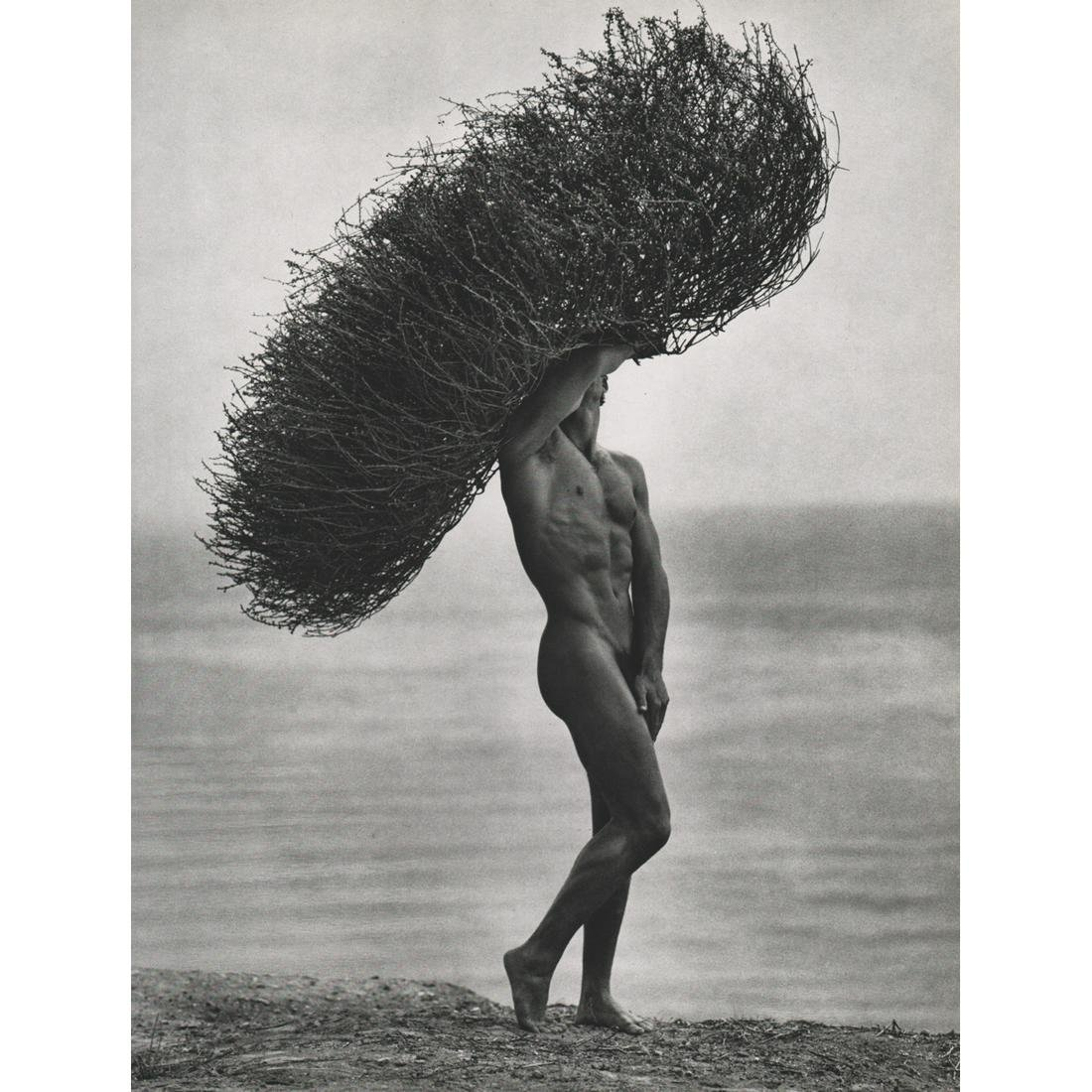 HERB RITTS - Male Nude with Tumbleweed, 1986
